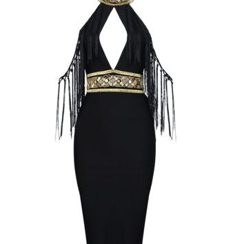 Shakmi Black Embellished Dress