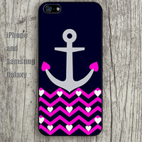 Anchor Chevron pink heart colorful iphone 6 6 plus iPhone 5 5S 5C case Samsung S3,S4,S5 case Ipod Silicone plastic Phone cover Waterproof A0728