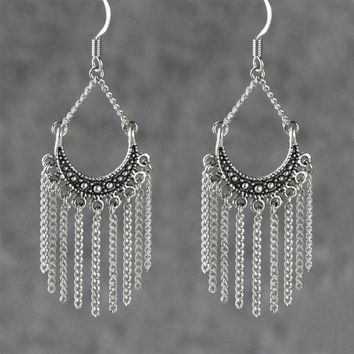 Chandelier chain hoop Earrings Bridesmaids gifts Free US Shipping handmade Anni Designs