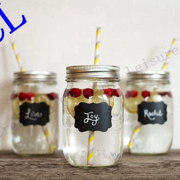 36pieces Fancy Mason Jar Wedding Chalkboard Labels