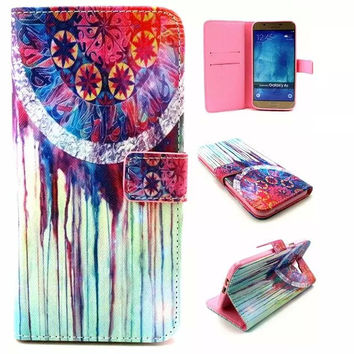 Retro Classic Dreamcatcher Leather Case Cover Wallet for iPhone & Samsung Galaxy