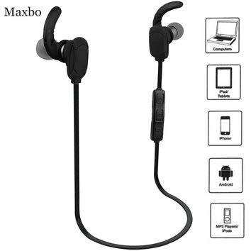 Maxbo® Bluetooth Headphones V4.1 Wireless Hands-free Sport Headphones Stereo In-Ear Headset with Microphone for Apple Samsung HTC LG Sony Bluetooth Smart Cell Phones/Devices (Black)
