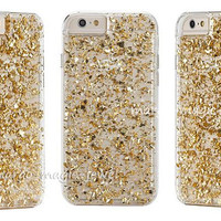 iPhone 6 iPhone 5 iphone 4/4s cover  case  Iphone Cover Accessories Cell Phone gold flakes 24K