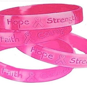 Lot Of 48 Pink Ribbon Camo ~ Breast Cancer Awareness Bracelets by Fun Express