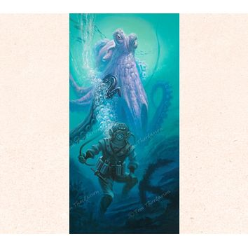 Tentacle Difficulties | Canvas Print