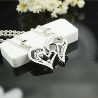 Gift New Arrival Jewelry Stylish Shiny Hot Sale Innovative Gifts I Love You Heart Pendant Necklace [8026029831]