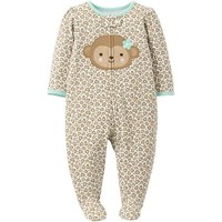 Child of Mine by Carter's Newborn Girl Fleece Zip Up Sleep n' Play - Walmart.com