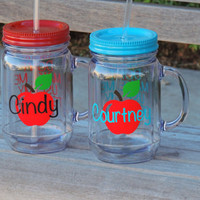 teachers cup, acrylic mason, plastic mason jar, drinking mason jar, personalized mug, personalized cup, cup with saying, stocking stuffer