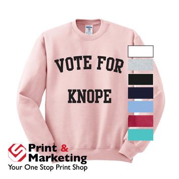 Parks and Recreation Sweatshirt crewneck Ludgate Pawnee Knope Swanson rat li'l sebastian Leslie Mouse Dwyer Vote Knope Parks and Rec Custom
