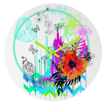 Holly Sharpe Siesta Round Clock