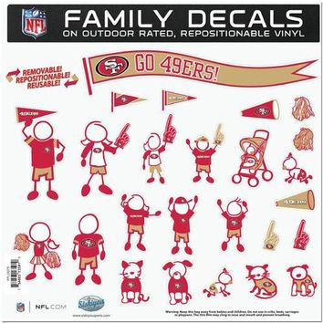 San Francisco 49ers NFL Family Car Decal Set (Large)