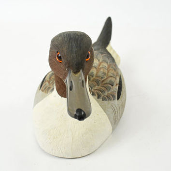Vintage Duck Decoy,  Handmade Duck, Hand Painted Duck, Grey Pintail Duck, Hunting Decoration, Gift for Him, Cabin Décor, Hunting Decor