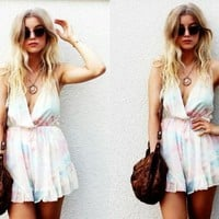 Tie Dye Romper Playsuit | SPREDFASHION