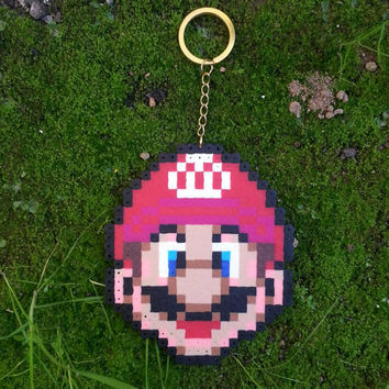 hand made pixel art Mario charm
