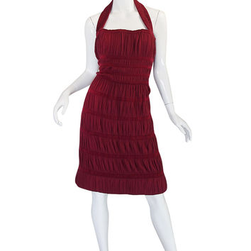 F/W 2009 Collection Ribbed Azzedine Alaia Silk Knit Dress