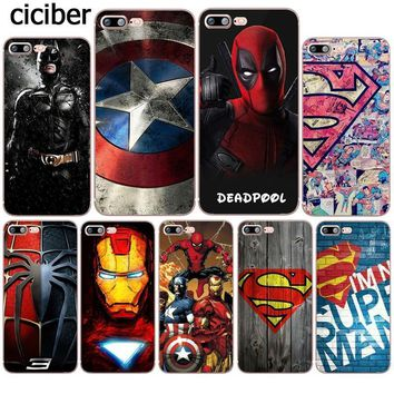 Deadpool Dead pool Taco Phone Case Superman  Iron Man DC Marvel Silicone Soft TPU Coque for Apple iphone 8 7 6 6S plus X 5S SE 7plus Funda Cover AT_70_6
