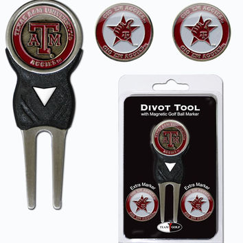 Texas A&M Aggies Golf Divot Tool with 3 Markers