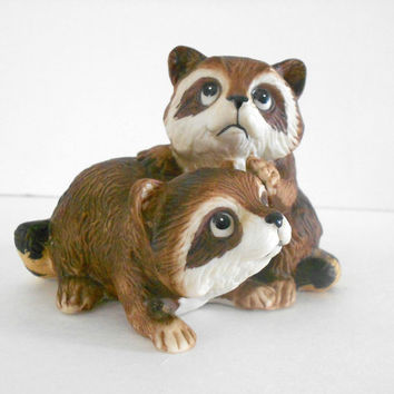 Raccoon HOMCO 1454 Home Interiors Decorative Figurine