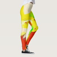Avant-garde Abstract Design Leggings