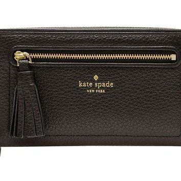 VONL8T Kate Spade New York Chester Street Neda Pebbled Leather Zip Around Wallet