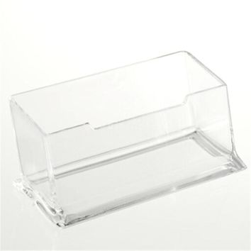 1PC Desk Shelf Box storage Display Stand Acrylic Plastic New Clear Desktop Business Card Holder Hot Sale