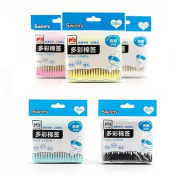 100pcs/Bag Double Head disposable Cotton Swab Women Makeup Cotton Buds Tip Nose Ears Cleaning Health Care Tools Z2