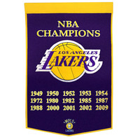 Los Angeles Lakers NBA Dynasty Banner (24x36)