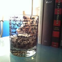 "Lyrics Painted Candle Holder - ""Golden"" by Fall Out Boy"