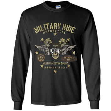 Vintage Military Motorcycle Ride T-shirt