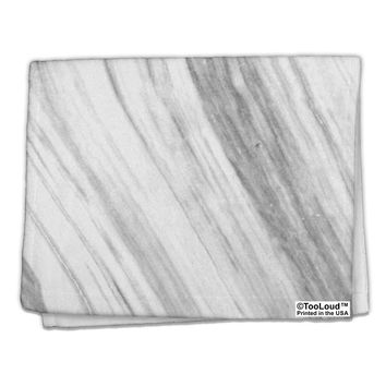 "White Marble Pattern 11""x18"" Dish Fingertip Towel All Over Print by TooLoud"
