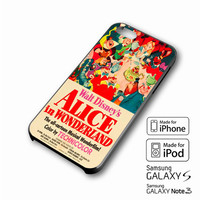 Old Disney Posters Alice In Wonderland iPhone 4 5 6 6+ Samsung Galaxy S3 4 5 iPod Touch 4 5 HTC One M7 8 Case