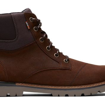 TOMS - Men's Ashland Waterproof Brown Waxy Suede Rugged Boots