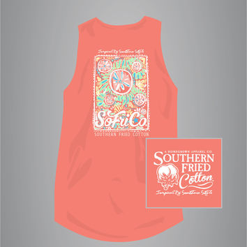 Beach Party - Shells - Seahorse - Adult Tank Top - Southern Fried Cotton