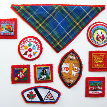 Vintage 1970s & 1980s BOY SCOUT Badges / by simplevintage on Etsy