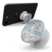 Walking Sacred Elephant Pattern V2 - Skin Kit for Pop Sockets and other Smartphone Extendable Grips & Stands