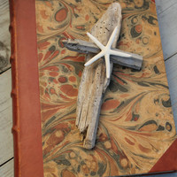 Driftwood Starfish Cross/Driftwood Art