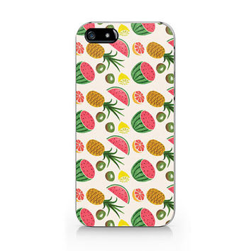 M-224-Tropical fruit iPhone 5 5S case, iPhone 4 4S case