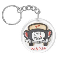 Just Married Keychain