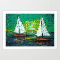 Sail Away With Me Art Print by Laura Barbosa Art