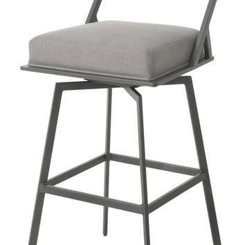 Impacterra Ganghwa Swivel Stool Nickel