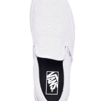 Vans Perforated Leather Slip-On Sneaker - White Mono