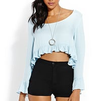 FOREVER 21 Fierce Fiesta Ruffled Top