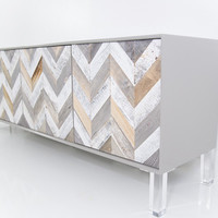 Modern Recycled wood Credenza in GreyStone | Modshop