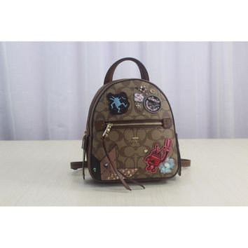 [Overseas Shopping] F48642 Coach Keith Haring Women's Badge Small Backpack Classic Print