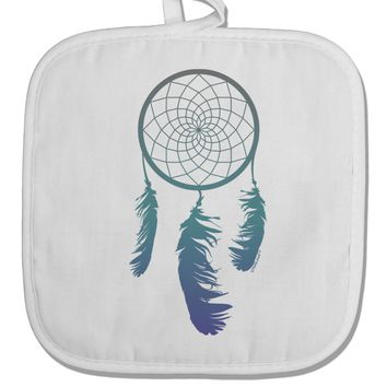 Mystic Dreamcatcher White Fabric Pot Holder Hot Pad