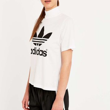 adidas Berlin White High Neck Tee - Urban Outfitters