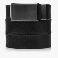 Black Top Grain Leather Belts