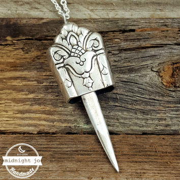 Her Majesty Knife Bell Necklace