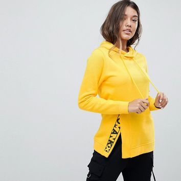 Noisy May Split Graphic Detail Hoodie at asos.com