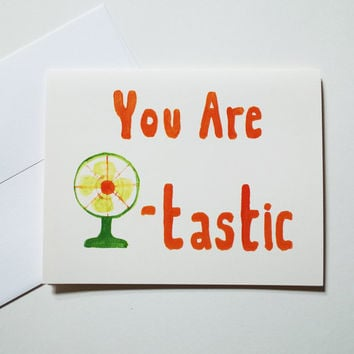 mother's day card You Are Fantastic thank you love bff stationery hipster